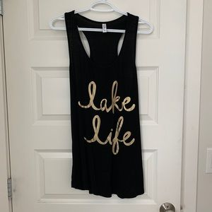 Lake Life sleeveless graphic tank